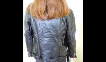 test avis review Veste en cuir PU Zippé Femme ROMWE