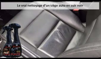 Nettoyage d'un siège auto en cuir noir!